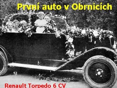 První auto v Obrnicích