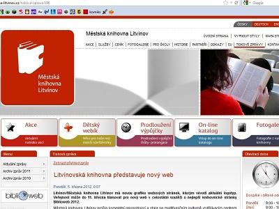 Litvínovská knihovna má nový web