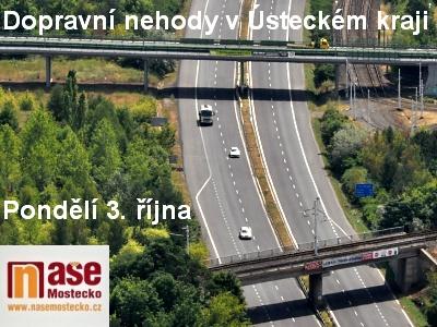 Na Mostecku se staly tři dopravní nehody