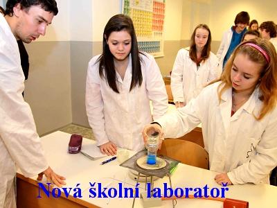 Litvínovská škola má od Unipetrolu novou laboratoř