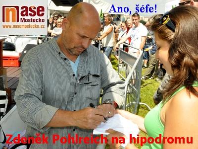 Zdeněk Pohlreich griloval na hipodromu