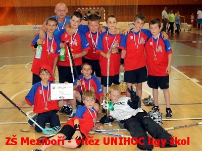 ZŠ Meziboří vyhrála UNIHOC ligu škol 2011/2012