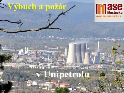 Výbuch a požár potrubí v Unipetrolu Litvínov
